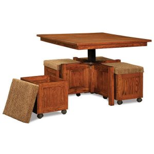 5pc. Square Table Bench Set AJW55Q Open AJ Woodworking