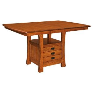 Arts Crafts Cabinet Table with Leaf West Point