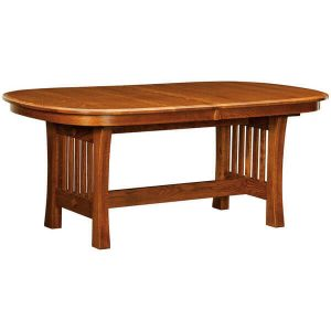 Arts Crafts Trestle Table West Point