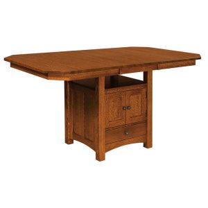 Basset Cabinet Table with Leaf West Point