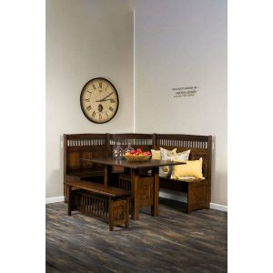Classic Mission Dining Nook Set AJW1000DN AJ Woodworking