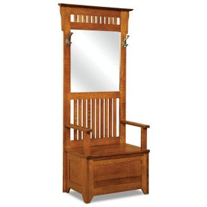 Classic Mission Hall Seat AJW20630 A J Woodworking