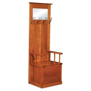 Heritage Mission Hall Seat AJW20824 A J Woodworking