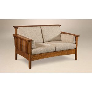 HighBackSlat LoveSeat AJs Furniture 1