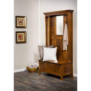 Modesto Hall Seat AJW3LWH A J Woodworking