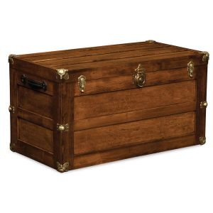 Trunk with Flat Lid AJW71338FL A J Woodworking