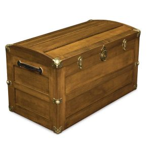 Trunk with Rounded Lid AJW71338RL A J Woodworking