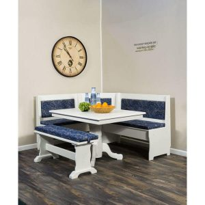 Upholstered Traditional Nook Set AJW700TN 6 AJ Woodworking