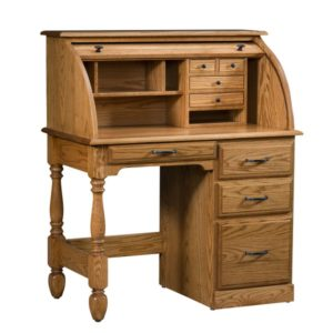 Colonial Rolltop Desk Open