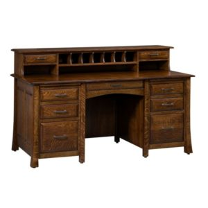 Lakeshore Flat Top Desk with Cubby Holes
