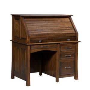 Lakeshore Small Rolltop Desk Closed