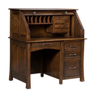 Lakeshore Small Rolltop Desk Open