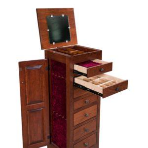 Shaker Jewelry Cabinet Open